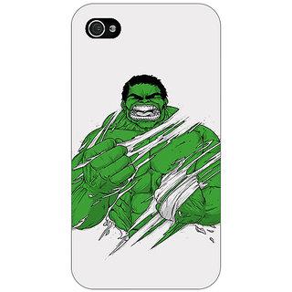 Jugaaduu Superheroes Hulk Back Cover Case For Apple iPhone 4 - J10326