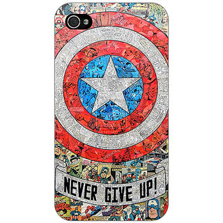 Jugaaduu Superheroes Captain America Back Cover Case For Apple iPhone 4 - J10334
