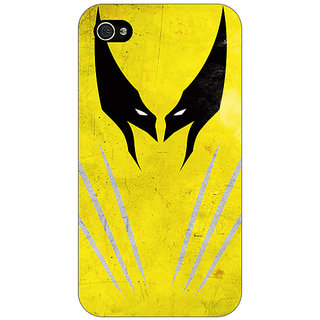 Jugaaduu Superheroes Wolverine Back Cover Case For Apple iPhone 4 - J10336