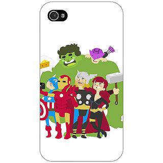 Jugaaduu Superheroes Baby Avengers Back Cover Case For Apple iPhone 4 - J10337