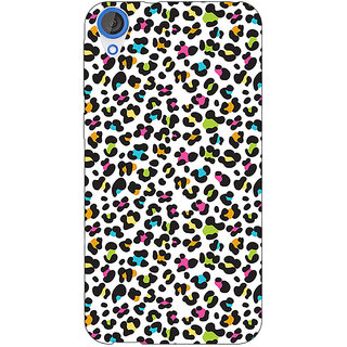 Jugaaduu Cheetah Leopard Print Back Cover Case For HTC Desire 820Q - J290085