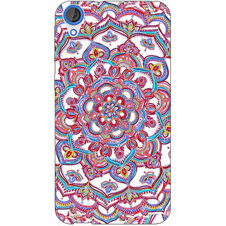 Jugaaduu Flower Circles Pattern Back Cover Case For HTC Desire 820 - J280230