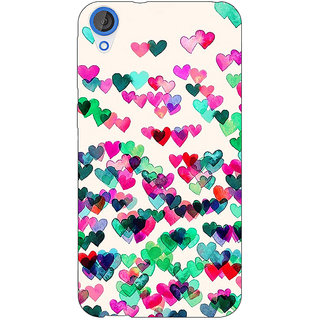 Jugaaduu Hearts in the Air Pattern Back Cover Case For HTC Desire 820 - J280233