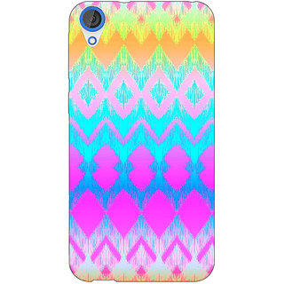 Jugaaduu Psychdelic Triangles Pattern Back Cover Case For HTC Desire 820 - J280248
