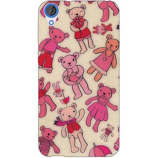 Jugaaduu Teddy Pattern Back Cover Case For HTC Desire 820 - J280263