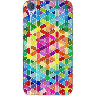 Jugaaduu Hexagon Star Pattern Back Cover Case For HTC Desire 820 - J280280