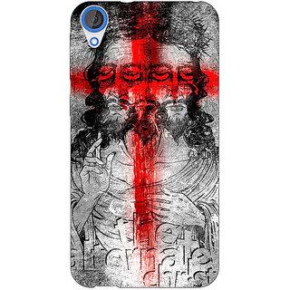 Jugaaduu Jesus Christ Back Cover Case For HTC Desire 820 - J281274