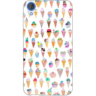 Jugaaduu Ice cream Doodle Back Cover Case For HTC Desire 820 - J281358
