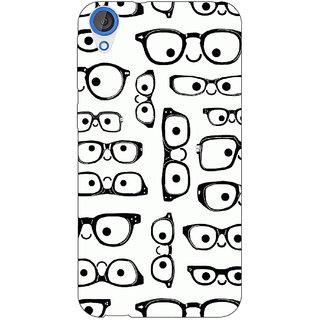 Jugaaduu Glasses Pattern Back Cover Case For HTC Desire 820 - J281379