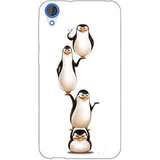 Jugaaduu Penguins Madagascar Back Cover Case For HTC Desire 820 - J281385