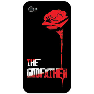 Jugaaduu The Godfather Back Cover Case For Apple iPhone 4 - J10347