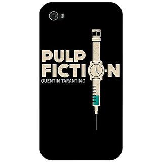 Jugaaduu Pulp Fiction Back Cover Case For Apple iPhone 4 - J10352