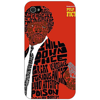 Jugaaduu Pulp Fiction Back Cover Case For Apple iPhone 4 - J10354