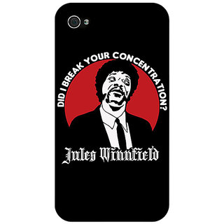 Jugaaduu Pulp Fiction Back Cover Case For Apple iPhone 4 - J10356