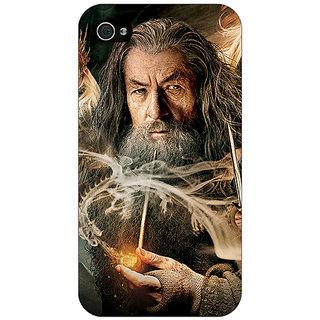 Jugaaduu LOTR Hobbit Gandalf Back Cover Case For Apple iPhone 4 - J10358