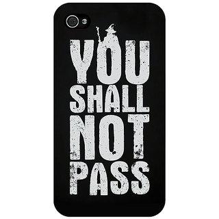 Jugaaduu LOTR Hobbit Gandalf Back Cover Case For Apple iPhone 4 - J10362
