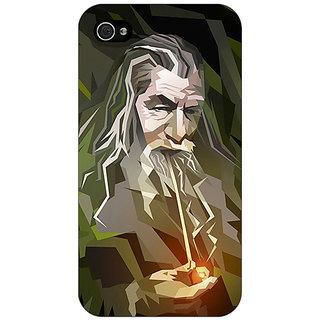 Jugaaduu LOTR Hobbit Gandalf Back Cover Case For Apple iPhone 4 - J10366