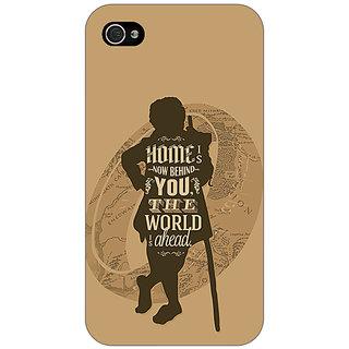 Jugaaduu LOTR Hobbit  Back Cover Case For Apple iPhone 4 - J10368