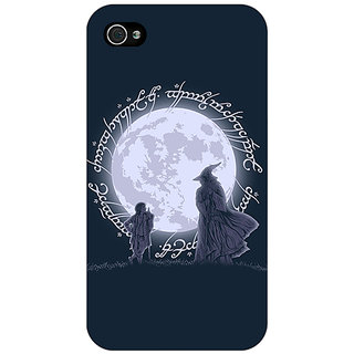Jugaaduu LOTR Hobbit  Back Cover Case For Apple iPhone 4 - J10378