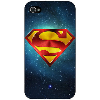 Jugaaduu Superheroes Superman Back Cover Case For Apple iPhone 4 - J10383