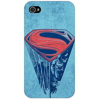Jugaaduu Superheroes Superman Back Cover Case For Apple iPhone 4 - J10387