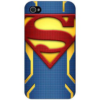 Jugaaduu Superheroes Superman Back Cover Case For Apple iPhone 4 - J10390