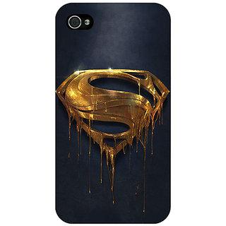 Jugaaduu Superheroes Superman Back Cover Case For Apple iPhone 4 - J10391
