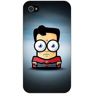 Jugaaduu Big Eyed Superheroes Superman Back Cover Case For Apple iPhone 4 - J10397