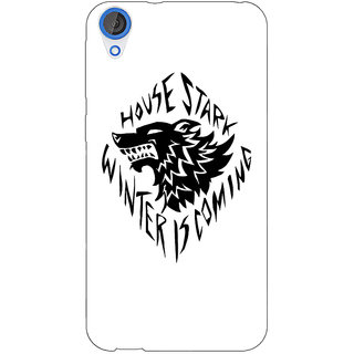 Jugaaduu Game Of Thrones GOT House Stark  Back Cover Case For HTC Desire 820Q - J290127