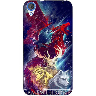 Jugaaduu Game Of Thrones GOT House Targaryen  Back Cover Case For HTC Desire 820Q - J290148