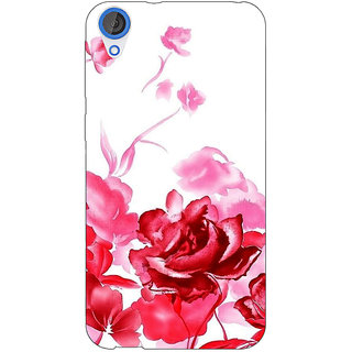 Jugaaduu Floral Pattern Back Cover Case For HTC Desire 820 - J281410
