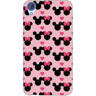 Jugaaduu Mickey Minnie Mouse Back Cover Case For HTC Desire 820 - J281417