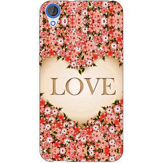 Jugaaduu Love Floral Back Cover Case For HTC Desire 820 - J281419