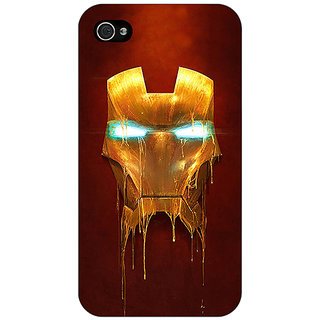 Jugaaduu Superheroes Ironman Back Cover Case For Apple iPhone 4 - J10025