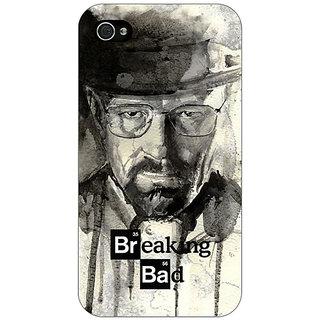 Jugaaduu Breaking Bad Heisenberg Back Cover Case For Apple iPhone 4 - J10419