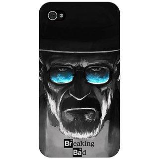 Jugaaduu Breaking Bad Heisenberg Back Cover Case For Apple iPhone 4 - J10426