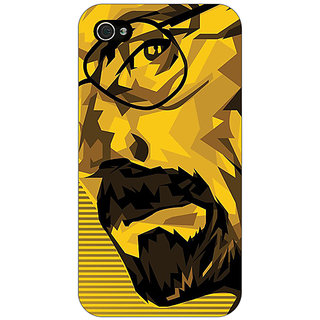 Jugaaduu Breaking Bad Heisenberg Back Cover Case For Apple iPhone 4 - J10432