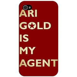 Jugaaduu Entourage Ari Gold Back Cover Case For Apple iPhone 4 - J10436