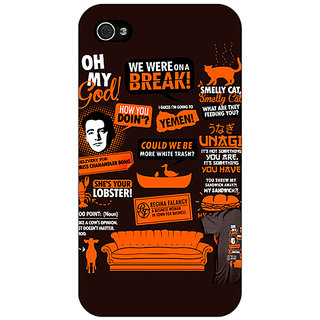 Jugaaduu FRIENDS Back Cover Case For Apple iPhone 4 - J10449