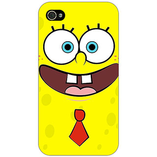 Jugaaduu Spongebob Back Cover Case For Apple iPhone 4 - J10461