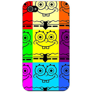 Jugaaduu Spongebob Back Cover Case For Apple iPhone 4 - J10462