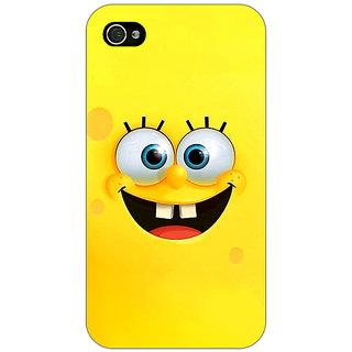 Jugaaduu Spongebob Back Cover Case For Apple iPhone 4 - J10467