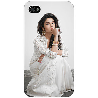 Jugaaduu Bollywood Superstar Alia Bhatt Back Cover Case For Apple iPhone 4 - J11025
