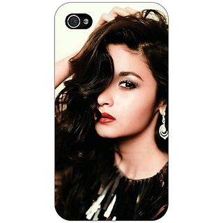 Jugaaduu Bollywood Superstar Alia Bhatt Back Cover Case For Apple iPhone 4 - J11026