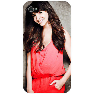 Jugaaduu Bollywood Superstar Anushka Sharma Back Cover Case For Apple iPhone 4 - J11031