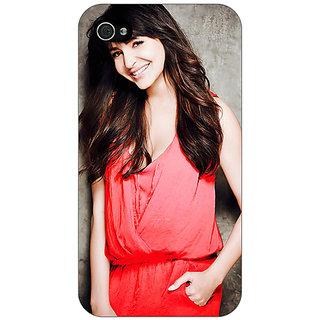 Jugaaduu Bollywood Superstar Anushka Sharma Back Cover Case For Apple iPhone 4 - J11031