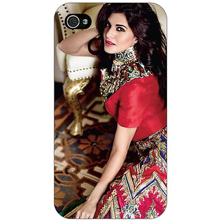 Jugaaduu Bollywood Superstar Jacqueline Fernandez Back Cover Case For Apple iPhone 4 - J11051