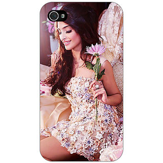 Jugaaduu Bollywood Superstar Sonam Kapoor Back Cover Case For Apple iPhone 4 - J11063