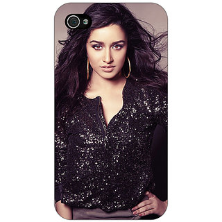 Jugaaduu Bollywood Superstar Shraddha Kapoor Back Cover Case For Apple iPhone 4 - J11064