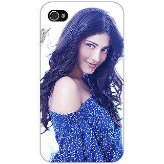 Jugaaduu Bollywood Superstar Shruti Hassan Back Cover Case For Apple iPhone 4 - J11065